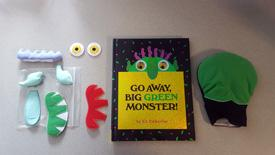 Go Away Big Green Monster Book Set